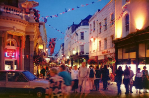 St. Helier is the place to be on a Saturday night out in Jersey. Photo Credit: Holger Ellgard