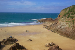Plemont Beach. Many say this is the most beautiful beach in Jersey. Photo Credit: Ian Britton